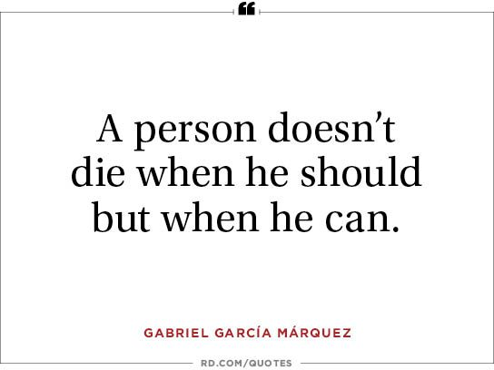 A person doesn't die when he should