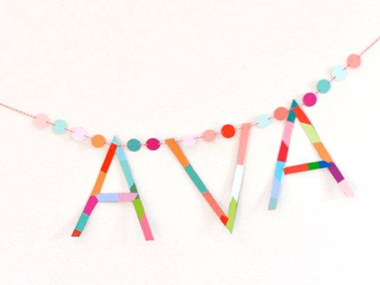 baby shower name garland