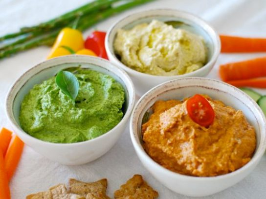 Three Color Hummus