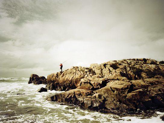 salt man on cliff