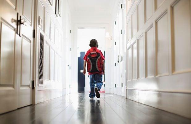 child leaving