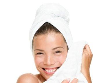 Wrap wet hair dry