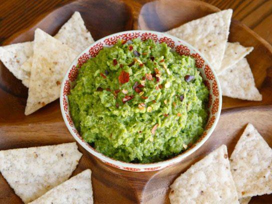 vegan appetizers pea guacamole