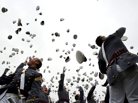 A graduation at West Point