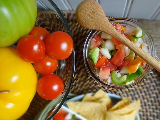Cucumber and Zucchini Summer Salsa