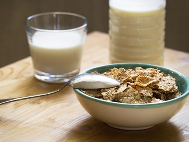 Top your cereal with soy milk