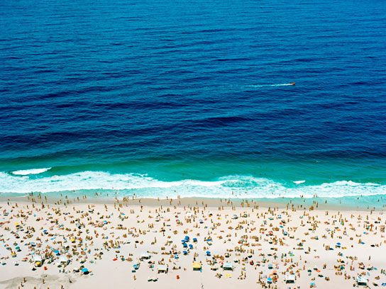 summertime ocean beach