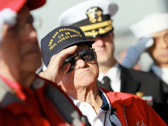 soldier saluting pearl harbor