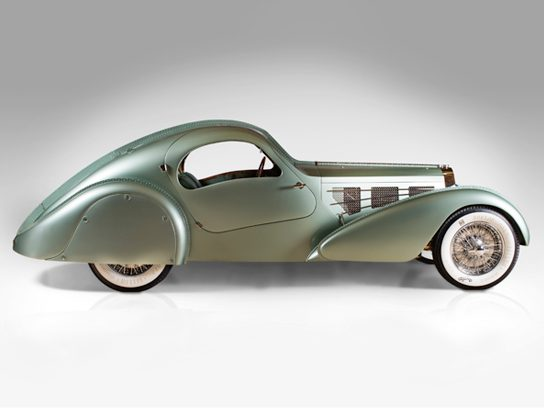 Bugatti Type 57S Competition Coupe Aerolithe recreation, 1935