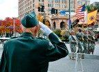 older soldier saluting