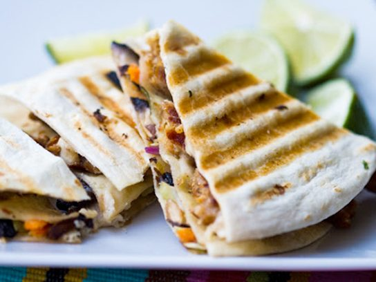 Triple-Stacked Vegan Quesadilla