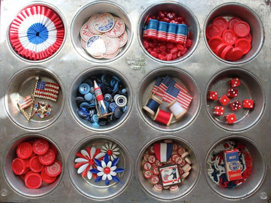 fourth of july muffin tin