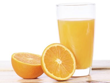 Drink 3 cups of unsweetened orange juice every morning