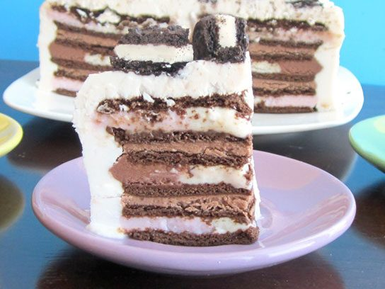Layered Vegan Ice Cream Sandwich Cake