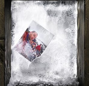 picture frozen in ice