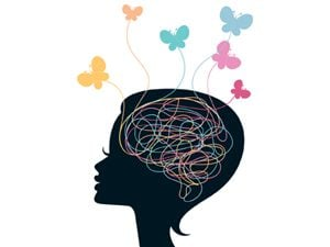 illustration of woman's head
