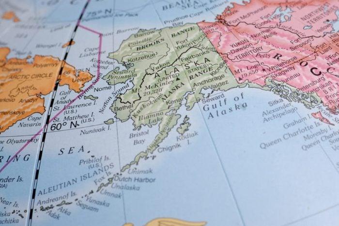 Macro Globe Map Detail 22 Alaska