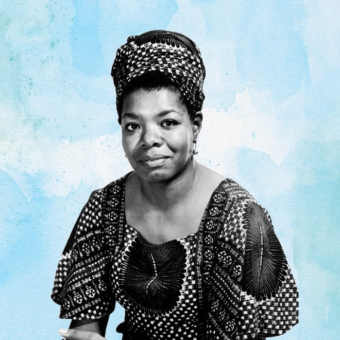 Portrait of Maya Angelou on watercolor background