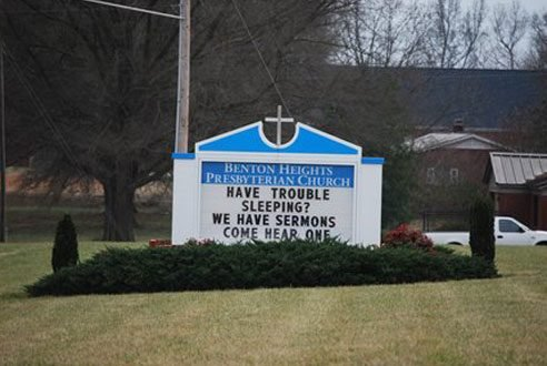 15 Funny Church Signs That Are Going to Hell | Reader's Digest