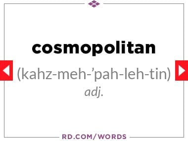 """3. What does """"cosmopolitan"""" mean?"""