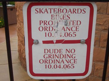 Dude no grinding ordinance