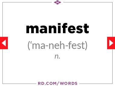 """13. What does """"manifest"""" mean?"""