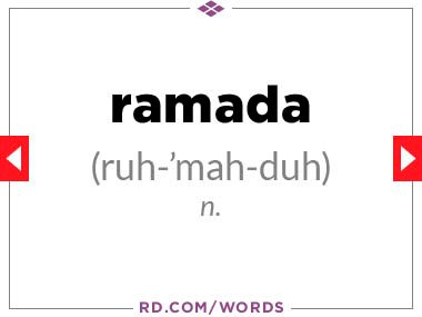 """10. What does """"ramada"""" mean?"""