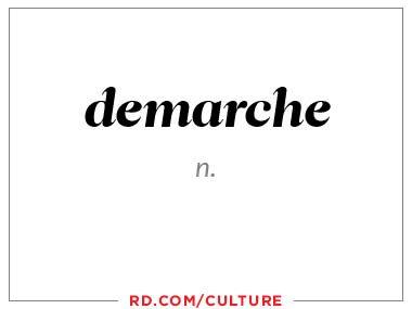 demarche (n.)