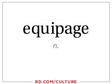 equipage (n.)