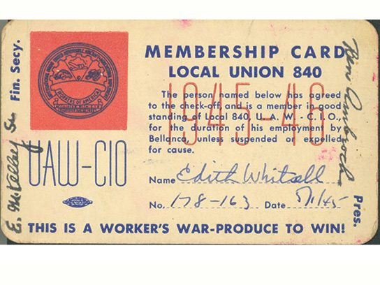 Membership Card, Local Union 840