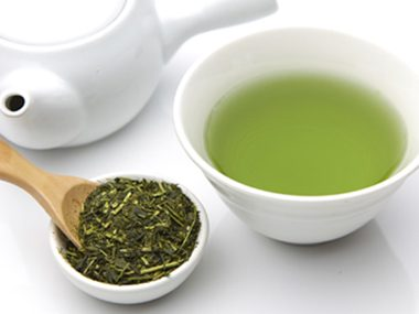 Soothe with green tea