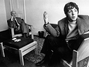 paul mccartney with his dad
