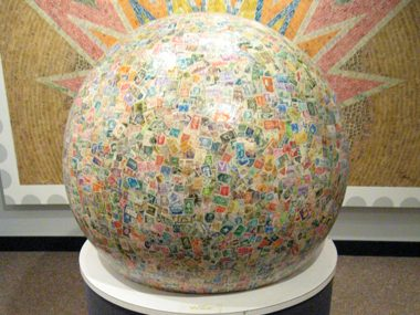 Enjoy the world's largest stamp ball
