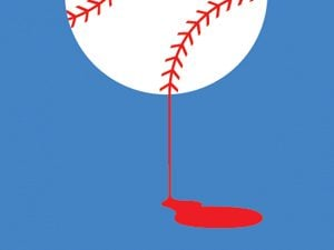 bleeding baseball