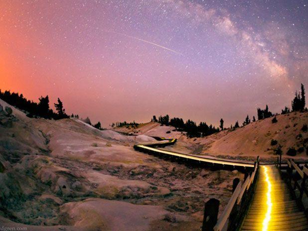 night sky lassen volcanic park