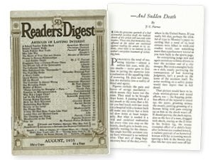 —And Sudden Death: The Reader's Digest Classic