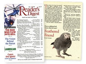A Reader's Digest Classic: Feathered Friend