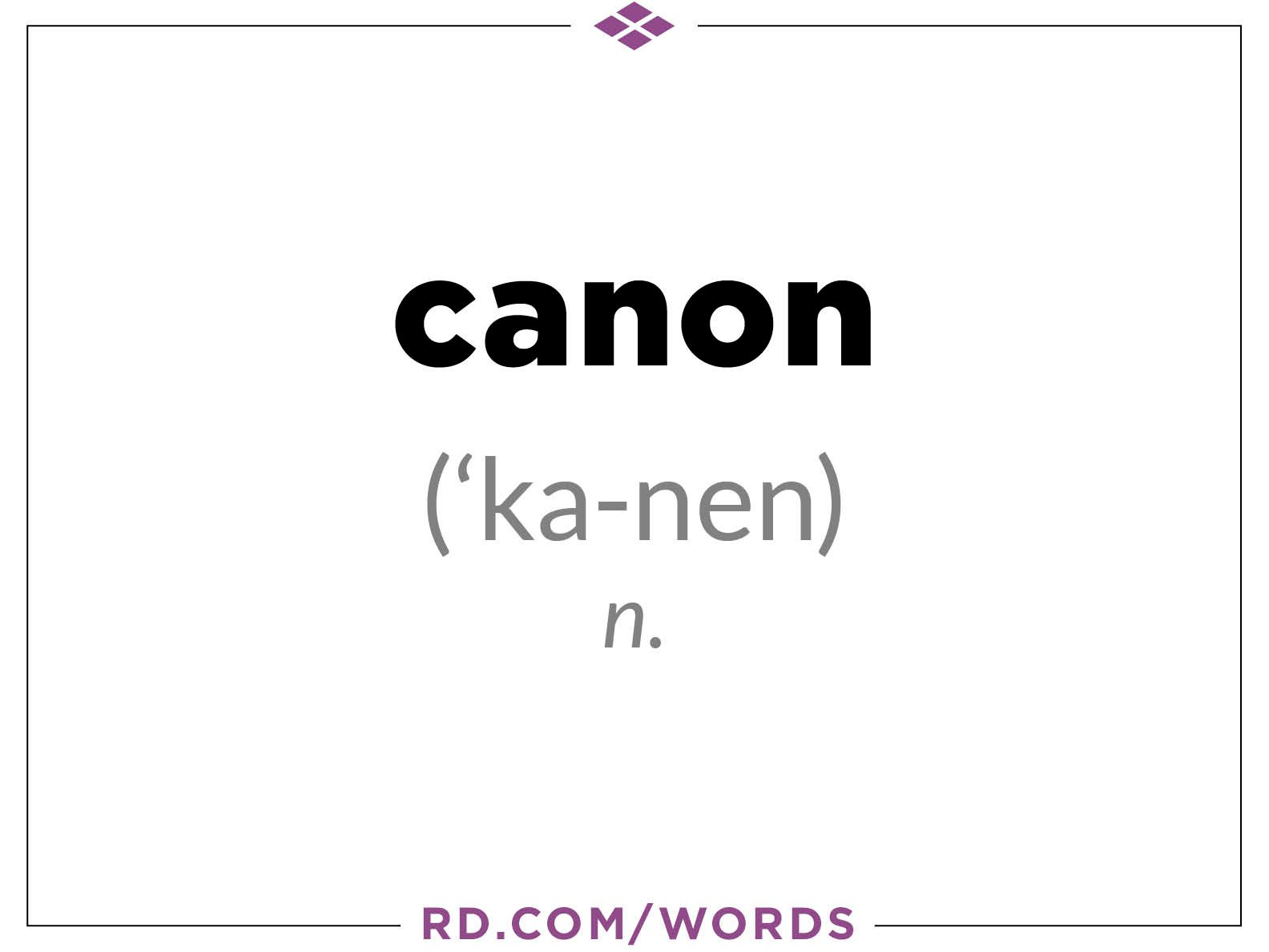 "2. What does ""canon"" mean?"