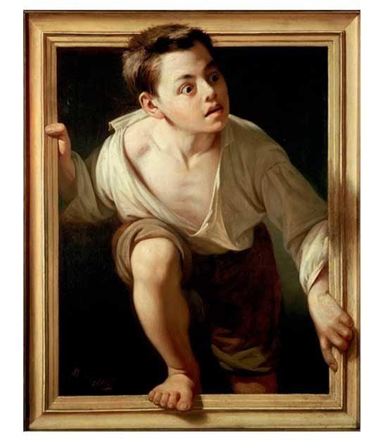 """""""Escaping Criticism"""" — Pere Borrell del Caso, 1874"""