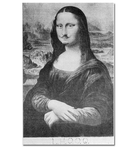 """L.H.O.O.Q."" — Marcel Duchamp, 1919"