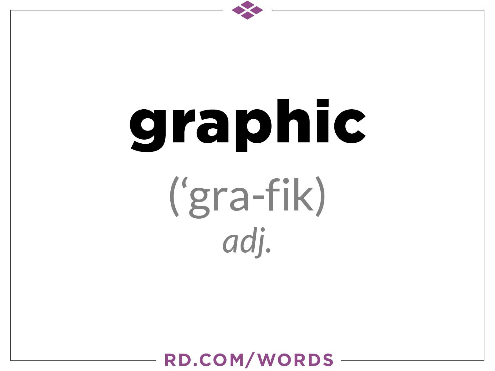 "1. What does ""graphic"" mean?"
