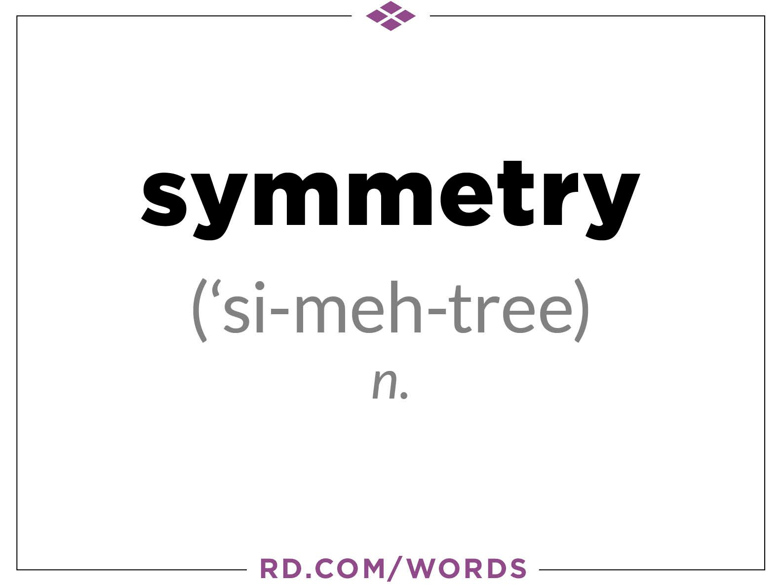 "3. What does ""symmetry"" mean?"