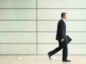 buisnessman walking