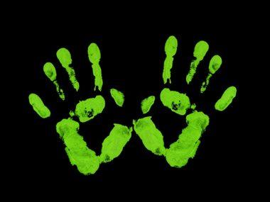 glowing hands