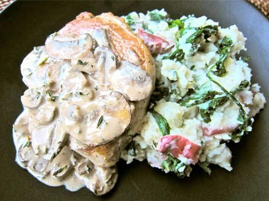 Mushroom Smothered Pork Chops