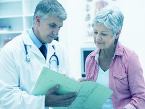 doctor and patient speaking