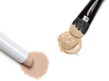 Cover problem spots with concealer, not foundation.