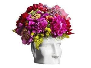 flowers in face vase