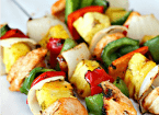 Grilled Sweet and Sour chicken kebobs