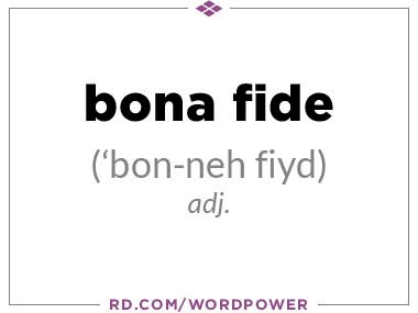 Bonafide meaning